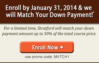 Stratford will match your down payment